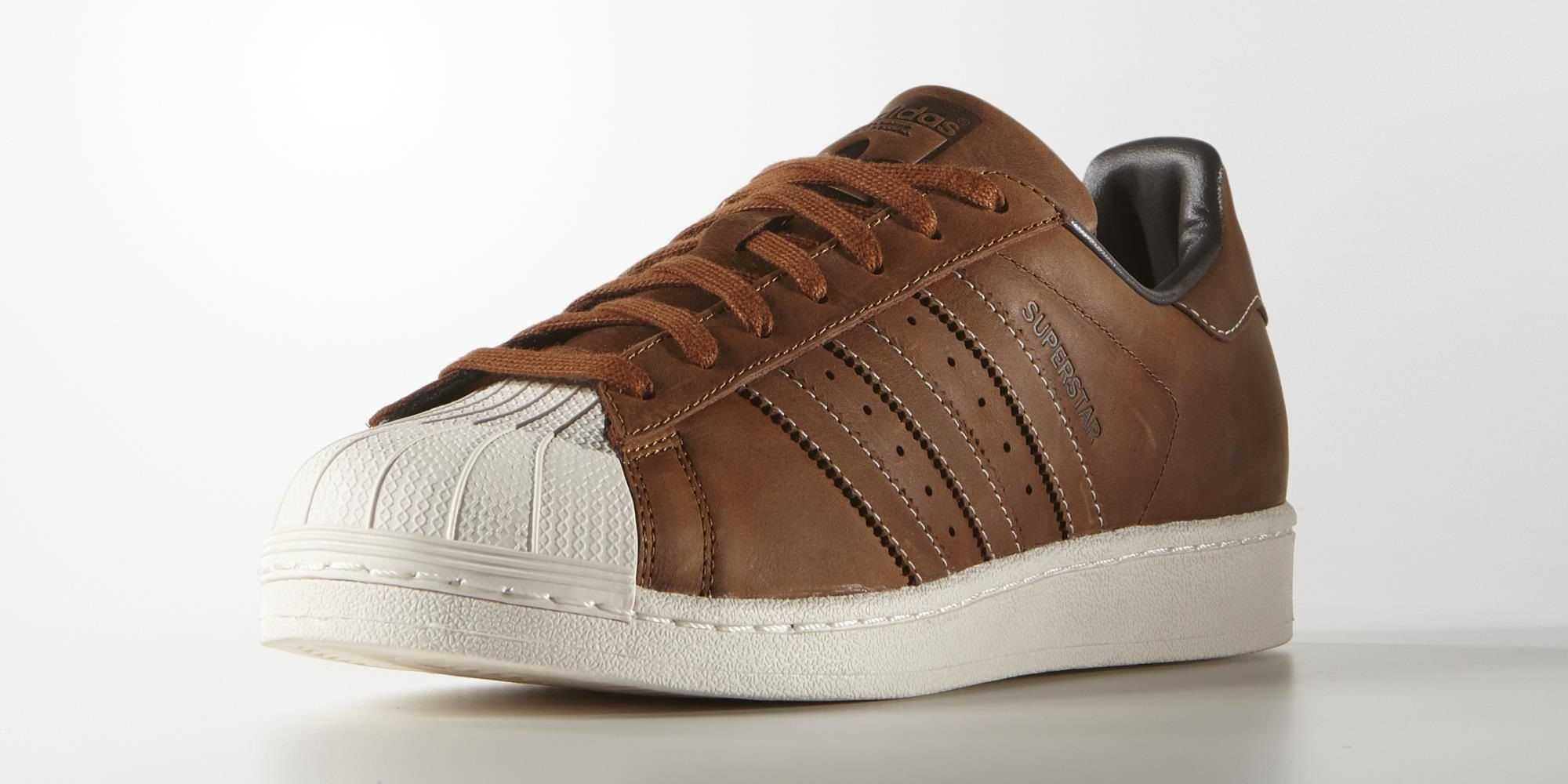adidas superstars leather