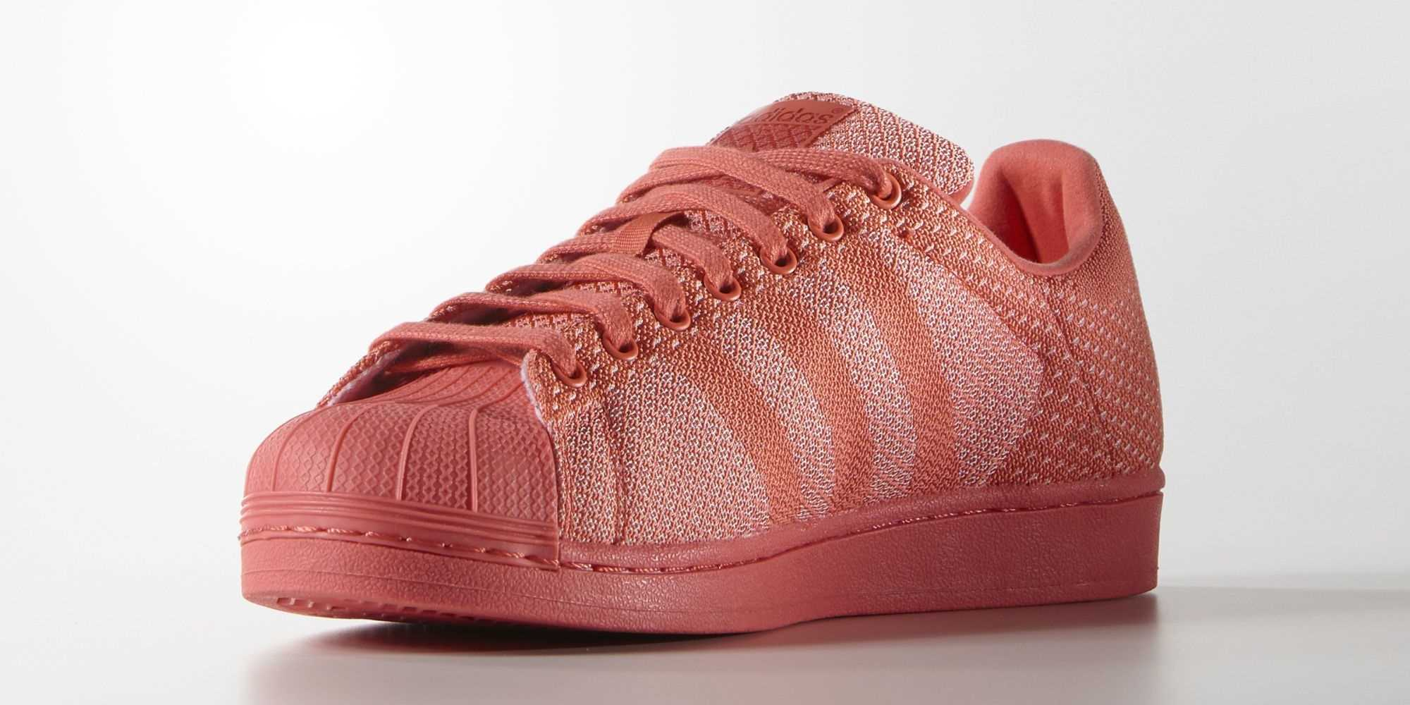 superstars adidas coral
