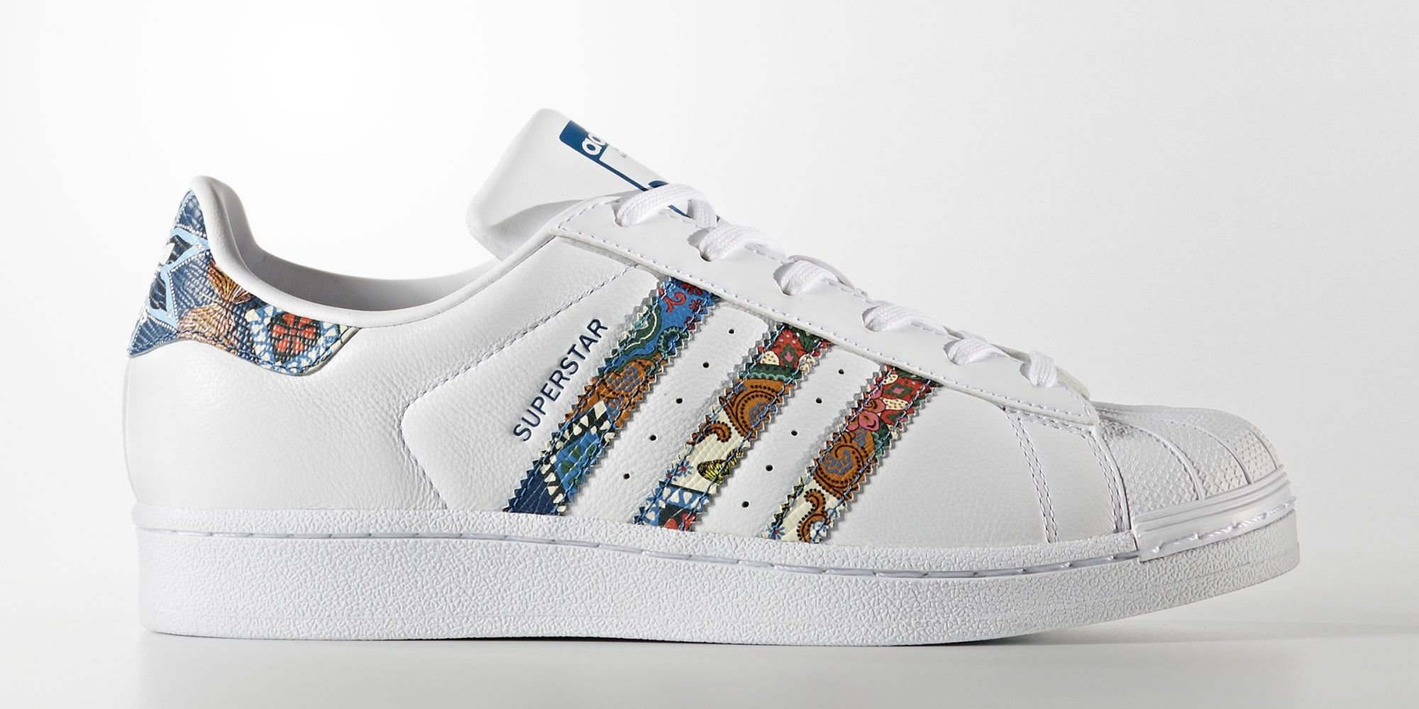 adidas superstar x the farm company tropical mosaic. Black Bedroom Furniture Sets. Home Design Ideas